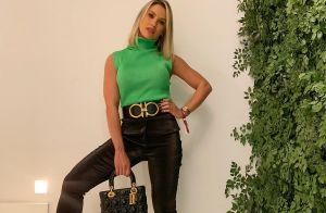 Andressa Suita repete bolsa e cinto de grife em look com bota animal print