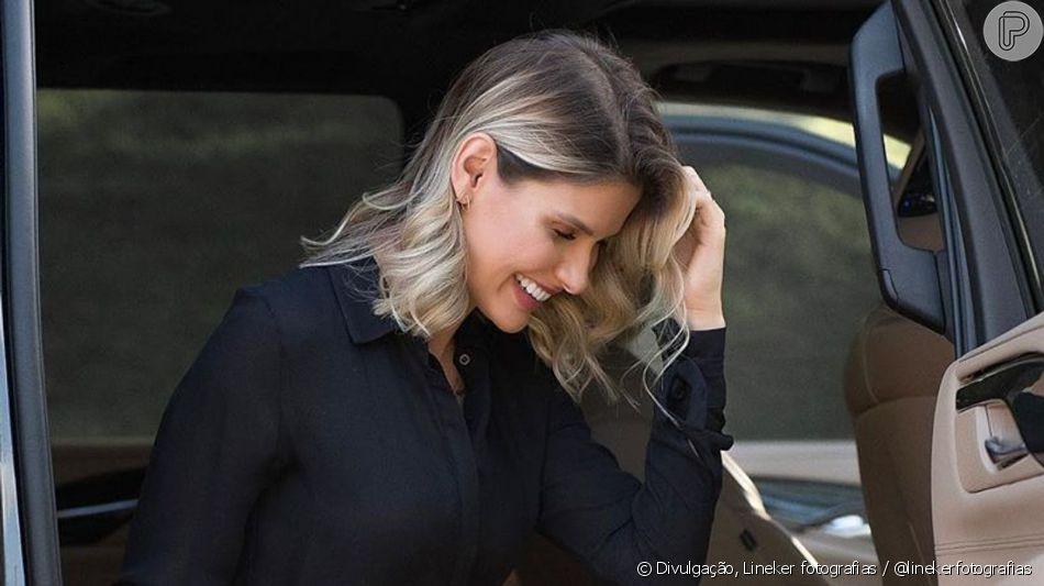 Andressa Suita aposta em mood all black com acessórios grifados nesta segunda-feira, dia 03 de junho de 2019