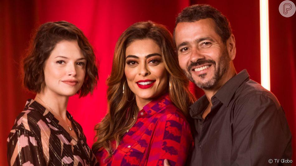Josiane (Agatha Moreira) arma para Maria da Paz (Juliana Paes) e Amadeu (Marcos Palmeira) pega ela na cama com Régis (Reynaldo Gianecchini) na novela 'A Dona do Pedaço'