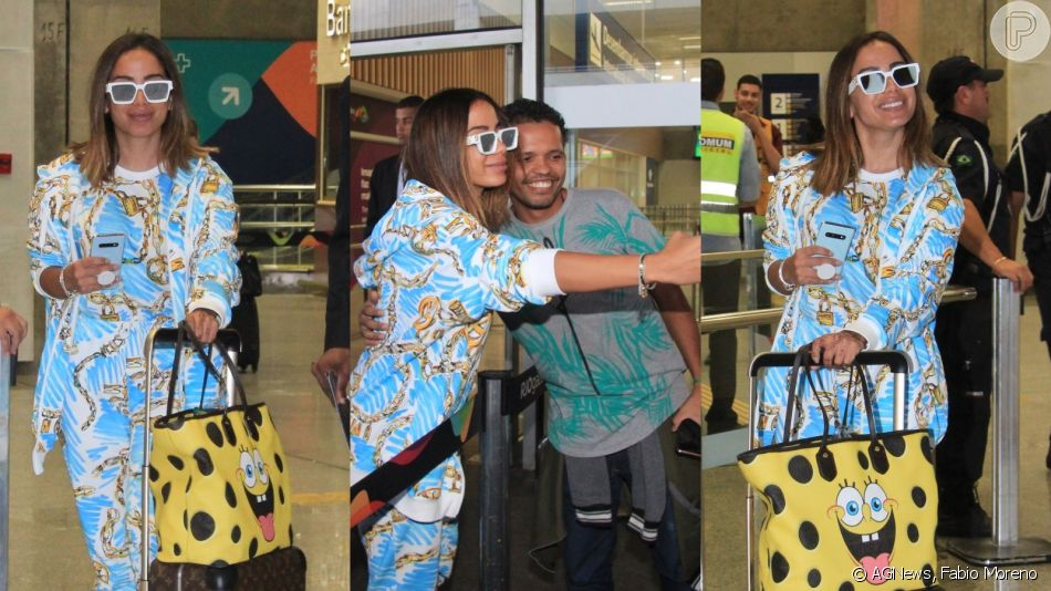 Anitta, após viagem com Pedro Scooby, usa look de R$ 20 mil ao voltar ao Brasil nesta quinta-feira, dia 06 de junho de 2019