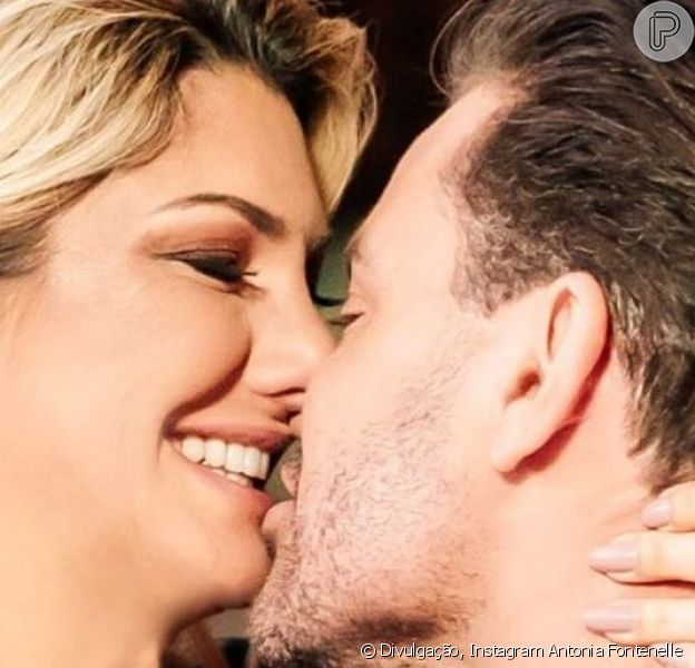 Antonia Fontenelle esclareceu sobre beijo em Eduardo Costa: 'Clipe'