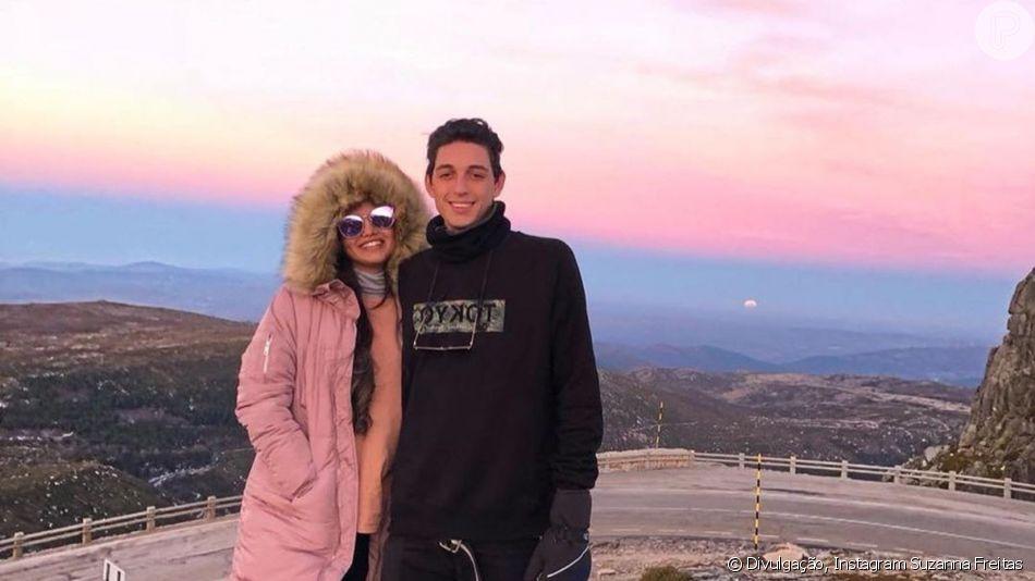 Filha de Kelly Key, Suzanna Freitas abriu baú de fotos para se declarar ao namorado, Gabriel Simões: 'Meu amor, minha vida!'