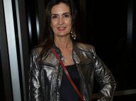 Fashion glow: Fátima Bernardes dá tom rocker a look com jaqueta poderosa. Fotos!