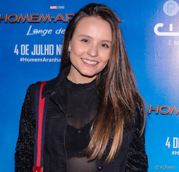 Larissa Manoela e mais famosos prestigiam a pré estreia do filme 'Homem-Aranha: Longe de casa', em São Paulo, na noite desta segunda-feira, 01 de julho de 2019
