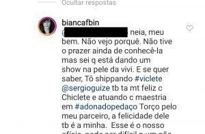 Bianca Bin valoriza sororidade após 'alerta' de fã sobre Paolla Oliveira. Saiba!