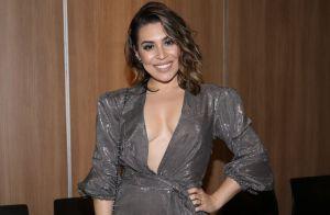 Naiara Azevedo combina lingerie e jeans em look: 'Ousada'. Veja foto!
