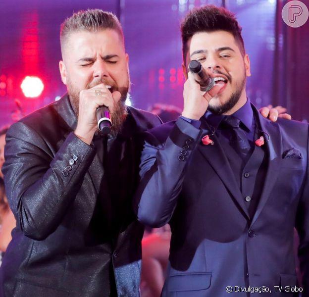 Zé Neto e Cristiano ajudaram fã deficiente em show em Colina (SP) na segunda-feira, 8 de julho de 2019