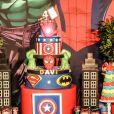 Detalhe da festa de aniversário de 4 anos de Davi, filho do sertanejo Hudson