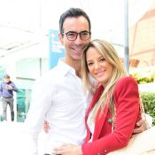 Ticiane Pinheiro mostra filha 'tietando' Cesar Tralli: 'Manu assistindo o papai'