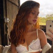 Marina Ruy Barbosa aposta em body rendado em sessão de fotos: 'Linda e elegante'
