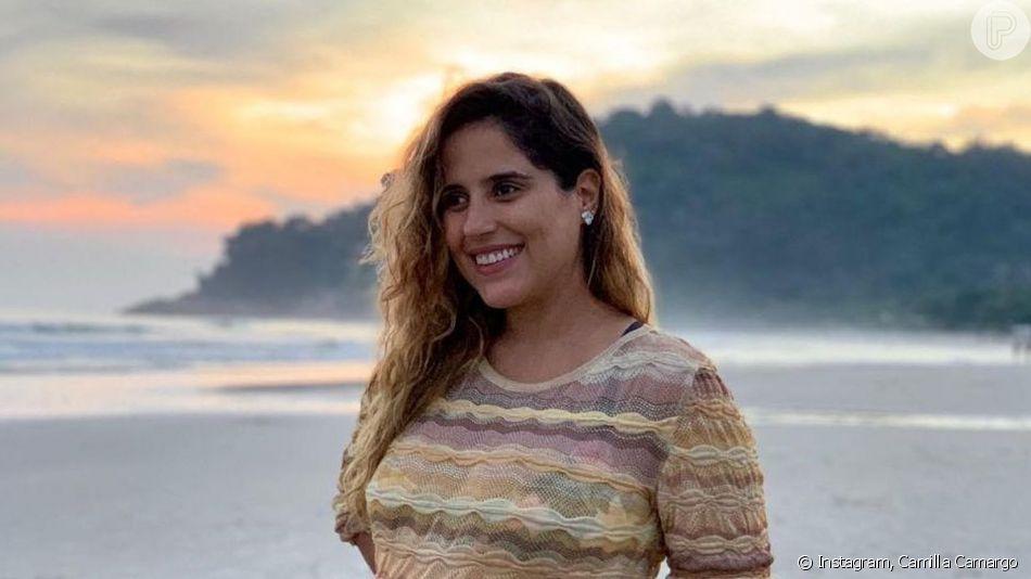 Camilla Camargo comentou sobre a educação do filho, Joaquim, nascido há 10 dias: 'Como mãe sinto que tenho a missão também de fazê-lo identificar comportamentos errados e machistas que muitas vezes são reproduzidos na nossa sociedade como algo normal e que não são aceitáveis'