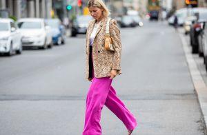 7 looks do street style que vão te fazer querer ter uma pantalona para já