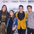 O cantor gospel Régis Danesi leva família para conferir apré-estreia do filme 'Nada a Perder 2', de Edir Macedo,no teatro Bradesco, em São Paulo, na noite desta terça-feira, 13 de agosto de 2019