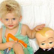 Karina Bacchi compara filho com personagem de filme em foto: 'Meu chefinho'