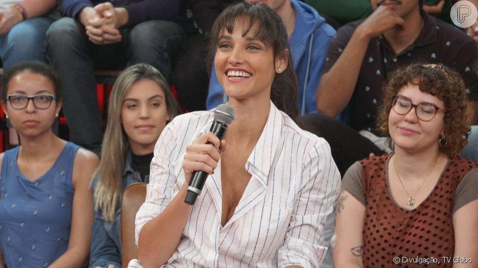 Débora Nascimento publicou uma foto de quando era bebê e foi comparada à filha, Bella, nesta quinta-feira, 15 de agosto de 2019