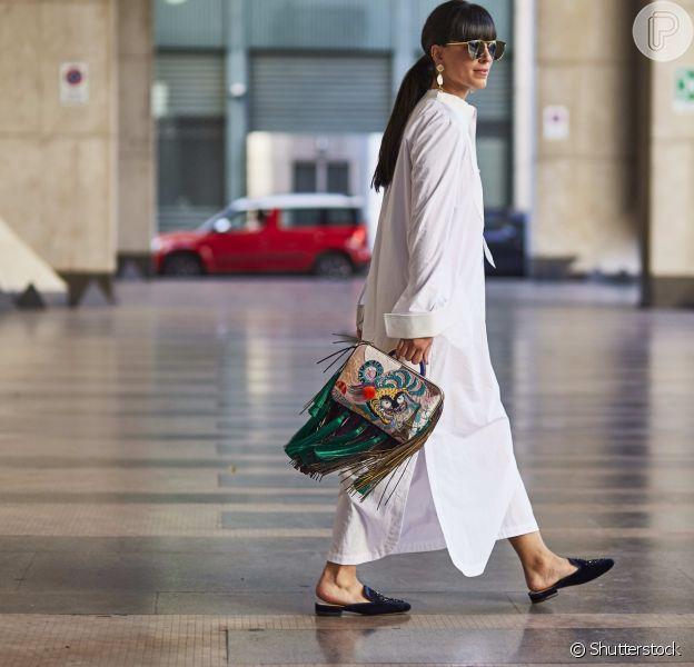 Vestido longo em estilo chemise é clássico e chique!