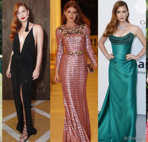 Marina Ruy Barbosa é fã de vestidos longos! A atriz usa a peça em festas e também no dia a dia. Veja galeria publicada neste , dia de agosto de 2019