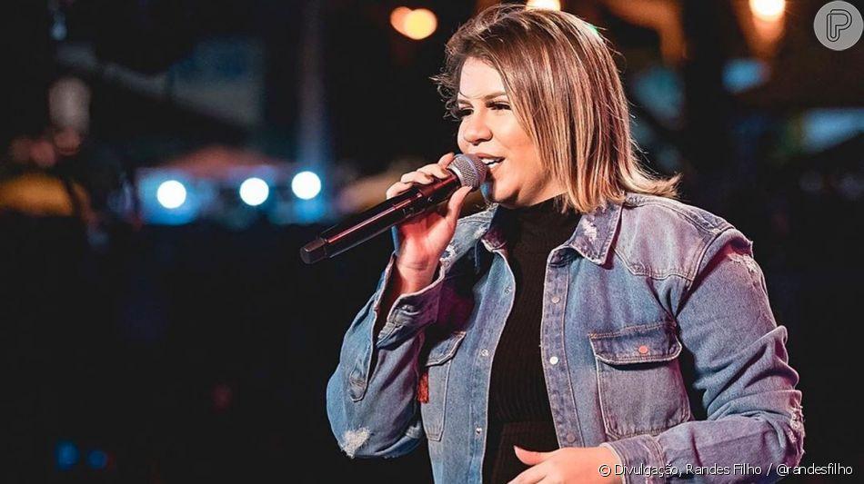 Look de show de Marilia Mendonça tem homenagem especial para o filho da cantora nesta sexta-feira, dia 23 de agosto de 2019