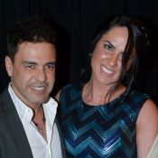 Zezé Di Camargo leva a noiva, Graciele Lacerda, ao show de Roberto Carlos. Fotos