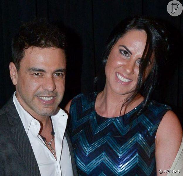 Zezé Di Camargo levou a noiva, Graciele Lacerda, ao show de Roberto Carlos