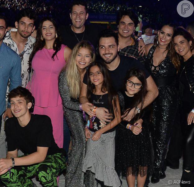 Wanessa Camargo e mais filhos famosos de sertanejos assistem juntos show 'Amigos'