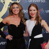 Mariana Ximenes e Gio Antonelli elegem looks em tons neutros para evento do Emmy