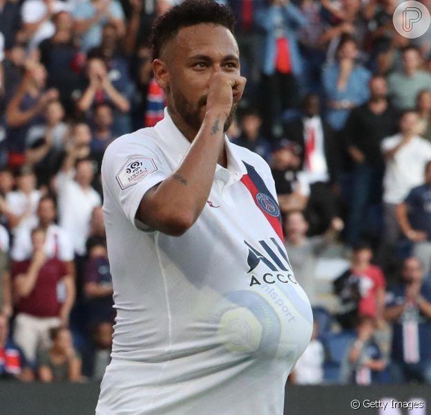 Neymar homenageou Carol Dantas pelo nascimento de Valentin neste sábado, 14 de setembro de 2019