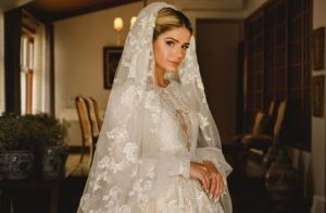 Ela disse sim! Thássia Naves elege vestido romântico para casamento. Veja look