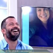 Malvino Salvador recebe elogio de Kyra Gracie no 'Encontro': 'É um paizão'