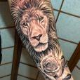Murilo Huff faz tatuagem de um leão no antebraço em homenagem ao filho: 'Para você'