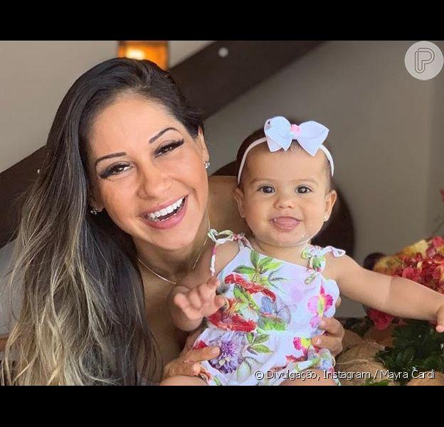 Mayra Cardi comemora 1 ano da filha, Sophia, com festa com cardápio fit, em 19 de outubro de 2019