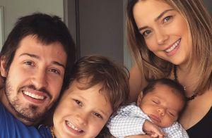Carol Dantas reúne marido e filhos em foto de aniversário: 'Melhor presente'