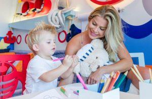 Fundo do mar inspira Karina Bacchi na brinquedoteca do filho, Enrico. Fotos!