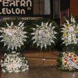 Jorge Fernando foi homenageado com coroas de flores