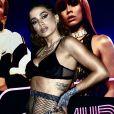 Anitta apostou em look com top de veludo e calça esportiva da Adidas para festa 'Combatchy'