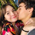 Sophia Valverde e Lucas Burgatti tornaram público o namoro em agosto deste ano