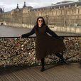 Regina Casé publica foto na Ponte das Artes, na França, em dezembro de 2012