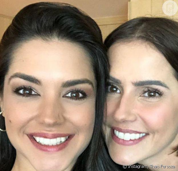 Thais Fersoza compartilhou foto com Deborah Secco e web opinou: 'Parecem irmãs'
