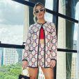 Andressa Suita usou look de R$ 30 mil da Gucci em coletiva de imprensa de Gusttavo Lima