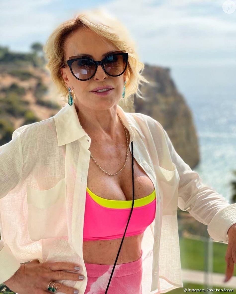 Ana Maria Nua ana maria braga dispensa roupa em praia de nudismo em vídeo