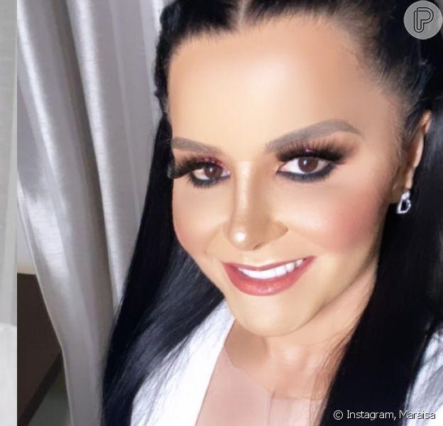 Dupla de Maiara, Maraisa impressiona ao filmar antes e depois de maquiagem após plástica no nariz neste sábado, dia 11 de janeiro de 2020
