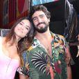 Thaila Ayala e o marido Renato Góes no show de Ludmilla