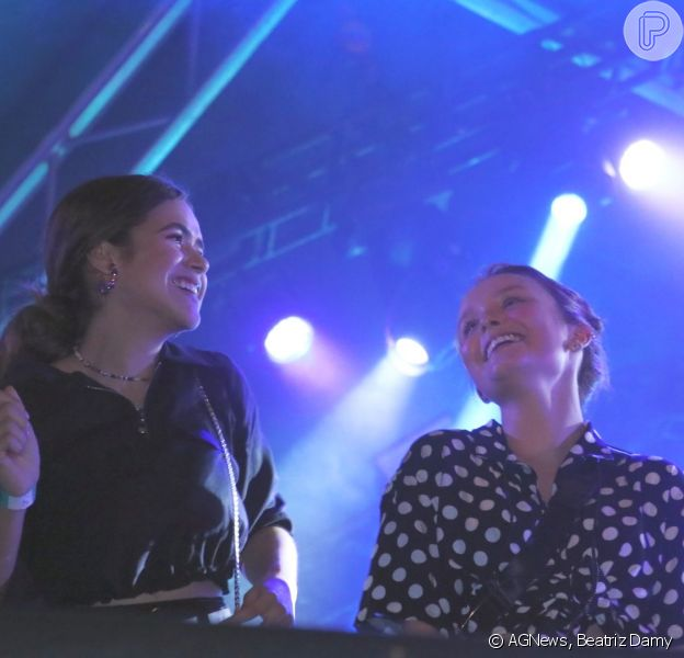 Larissa Manoela e Maisa Silva curtiram o show de Ludmilla neste sábado, 1 de fevereiro de 2020, no Rio de Janeiro