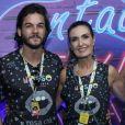 Fátima Bernardes já levou as filhas, Beatriz e Laura, em camarote de carnaval com o namorado, Túlio Gadêlha