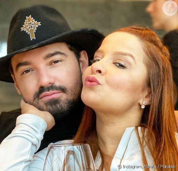 Maiara e Fernando Zor trocam beijos e carinhos em viagem
