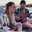 Veja vídeo de Maiara cantando em barco com Fernando Zor!