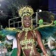 Iza desfilou pela primeira vez como rainha de bateria da Imperatriz Leopoldinense neste domingo de carnaval, 23 de fevereiro de 2020