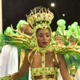 Iza representou a realeza leopoldinense no desfile da Imperatriz na Série A