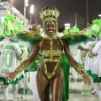 Carnaval 2020: Iza, rainha de bateria da Imperatriz Leopoldinense, deixa transparecer a alegria durante o desfile da escola da série A
