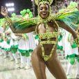 Iza estreia como rainha de bateria da Imperatriz Leopoldinense na série A do Carnaval do Rio de Janeiro